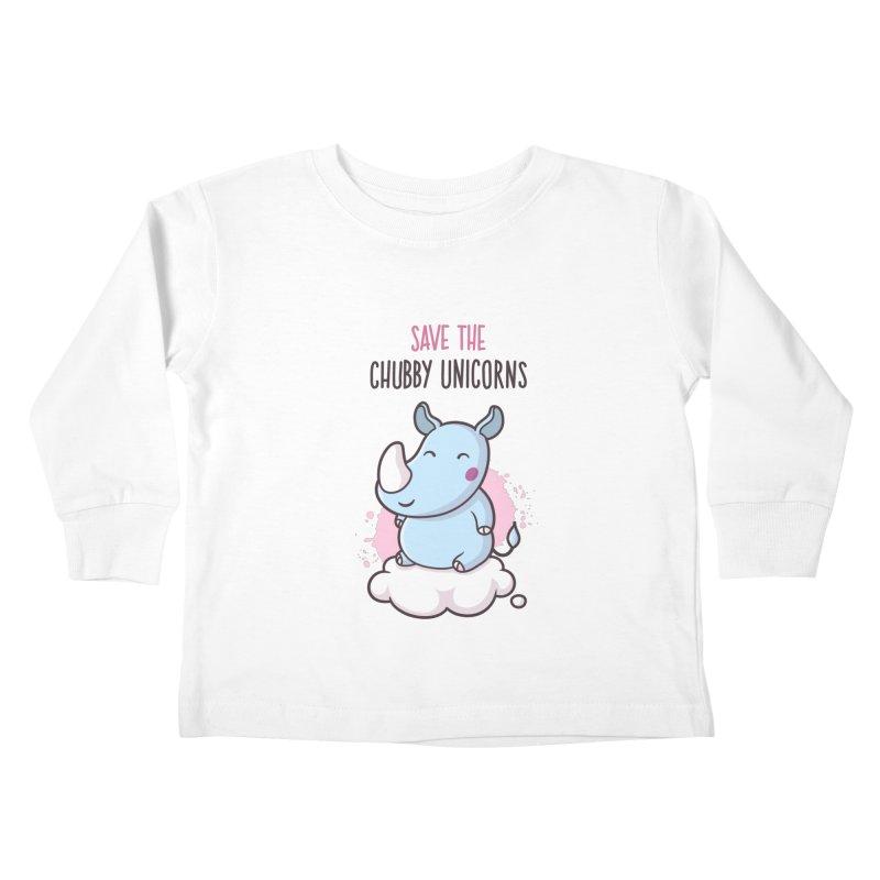 Save The Chubby Unicorns Kids Toddler Longsleeve T-Shirt by zoljo's Artist Shop