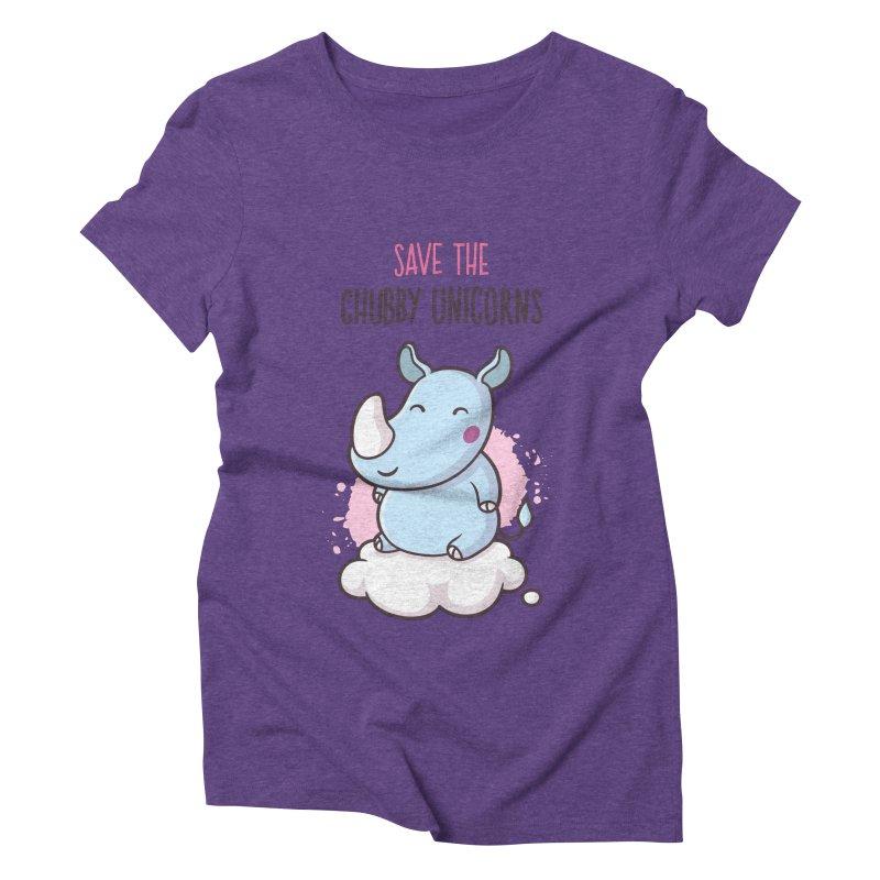 Save The Chubby Unicorns Women's Triblend T-Shirt by zoljo's Artist Shop