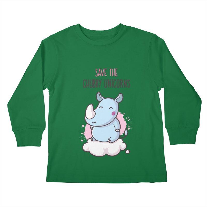Save The Chubby Unicorns Kids Longsleeve T-Shirt by zoljo's Artist Shop