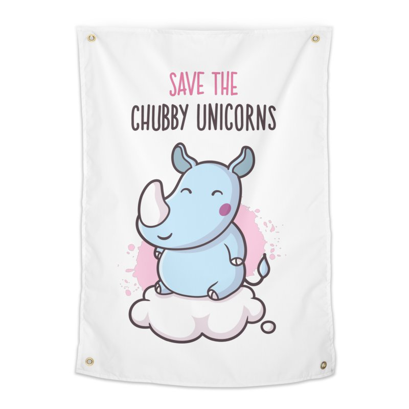 Save The Chubby Unicorns Home Tapestry by zoljo's Artist Shop