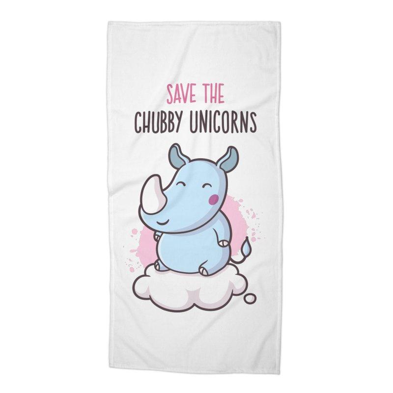 Save The Chubby Unicorns Accessories Beach Towel by zoljo's Artist Shop
