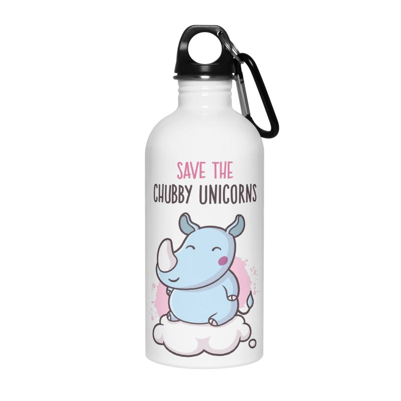 Save The Chubby Unicorns Accessories Water Bottle by zoljo's Artist Shop