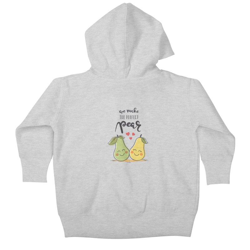 We Make The Perfect Pear Kids Baby Zip-Up Hoody by zoljo's Artist Shop