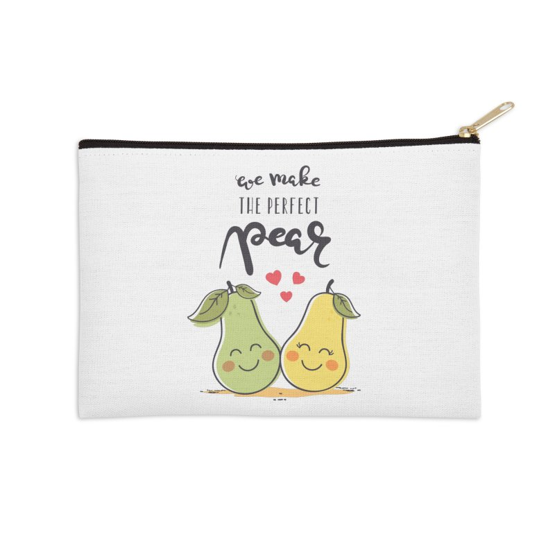 We Make The Perfect Pear Accessories Zip Pouch by zoljo's Artist Shop