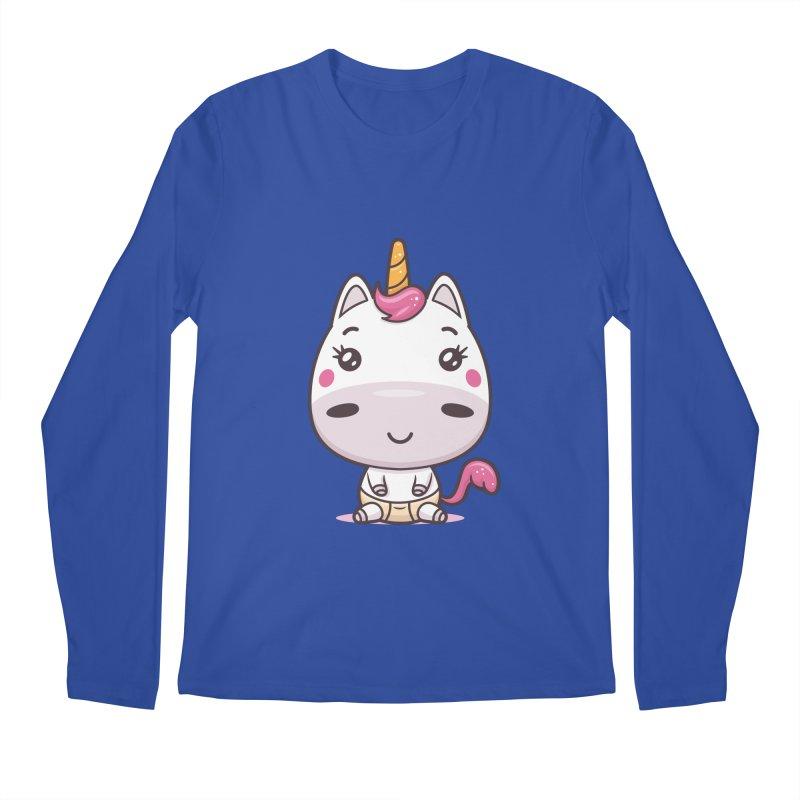 Baby Unicorn Men's Regular Longsleeve T-Shirt by zoljo's Artist Shop