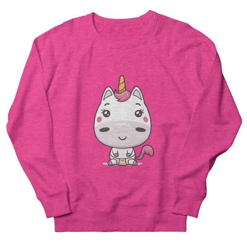 Baby Unicorn Men's French Terry Sweatshirt by zoljo's Artist Shop