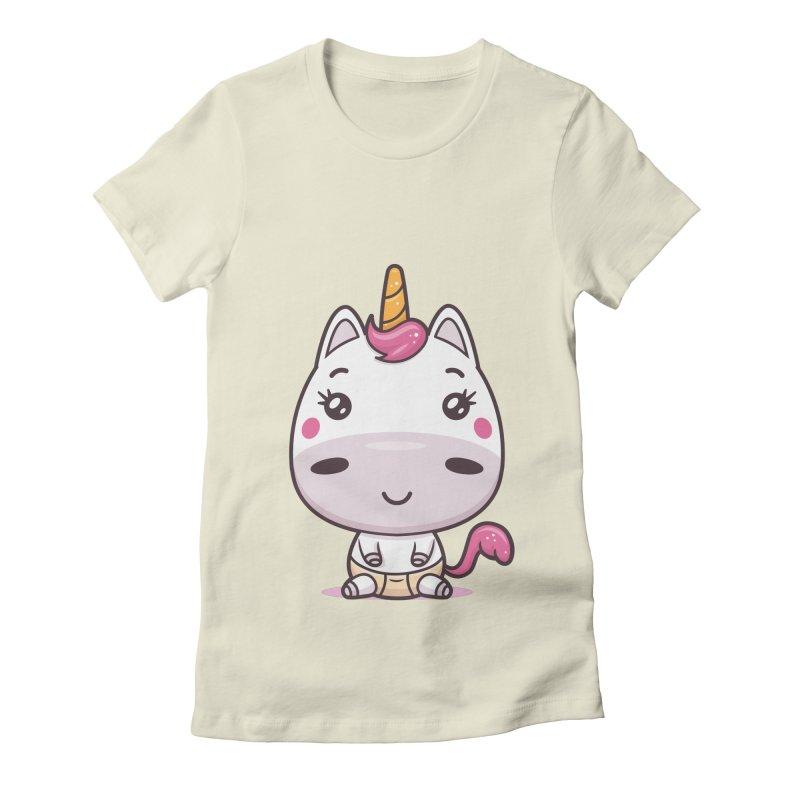 Baby Unicorn Women's Fitted T-Shirt by zoljo's Artist Shop