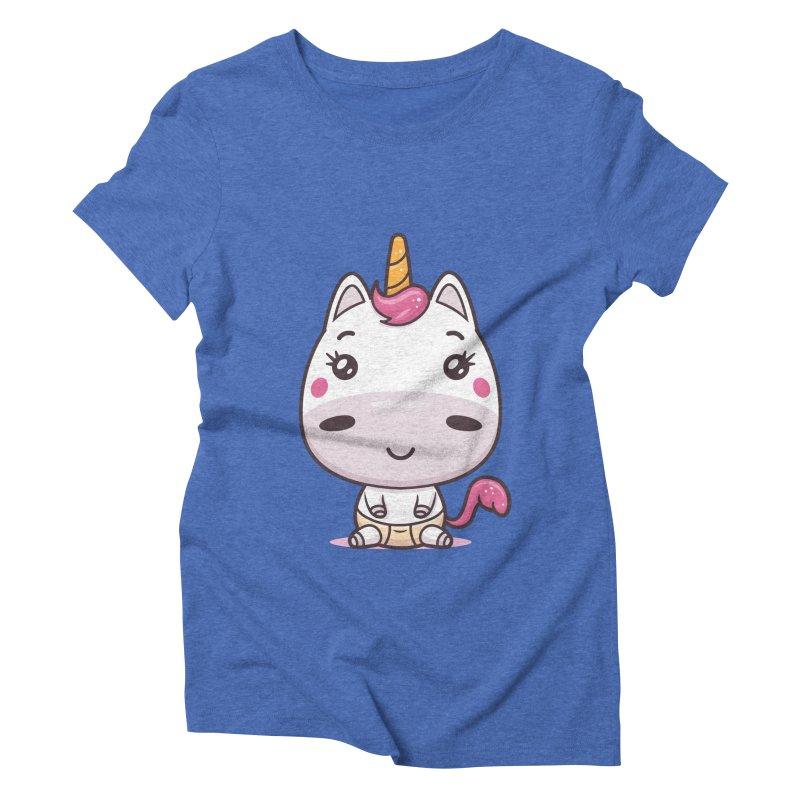 Baby Unicorn Women's Triblend T-Shirt by zoljo's Artist Shop