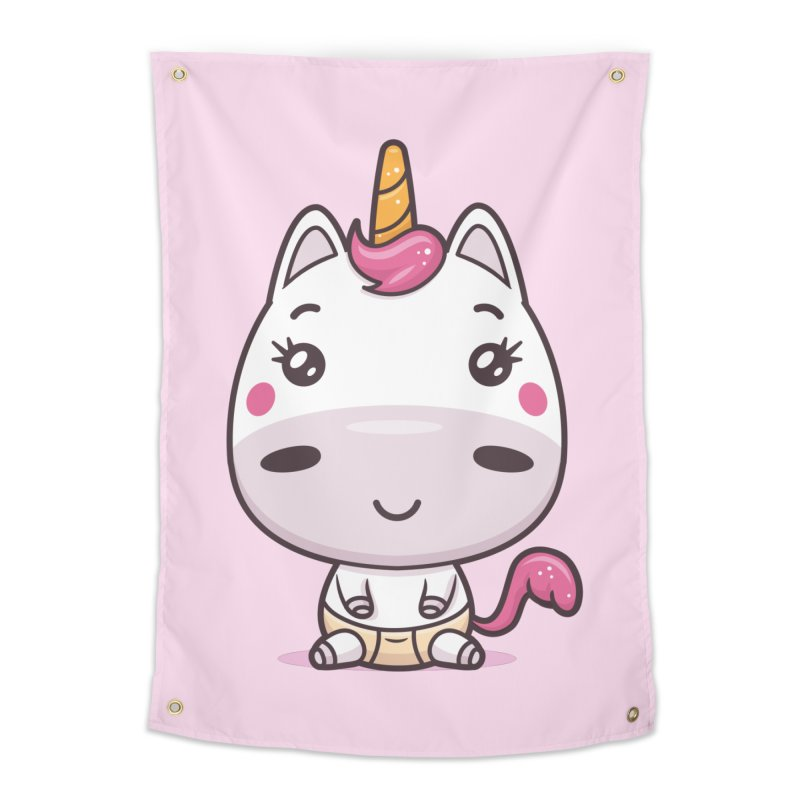 Baby Unicorn Home Tapestry by zoljo's Artist Shop