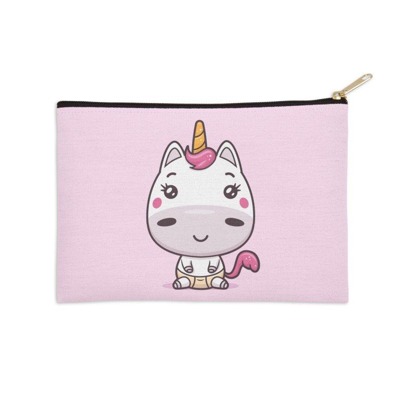 Baby Unicorn Accessories Zip Pouch by zoljo's Artist Shop