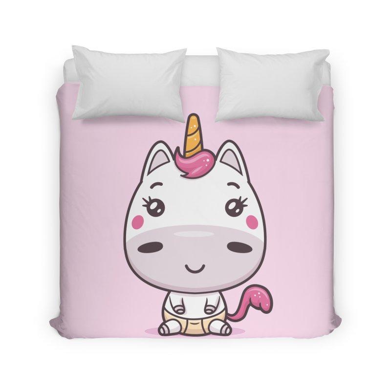 Baby Unicorn Home Duvet by zoljo's Artist Shop