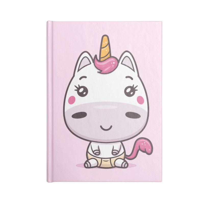 Baby Unicorn Accessories Blank Journal Notebook by zoljo's Artist Shop