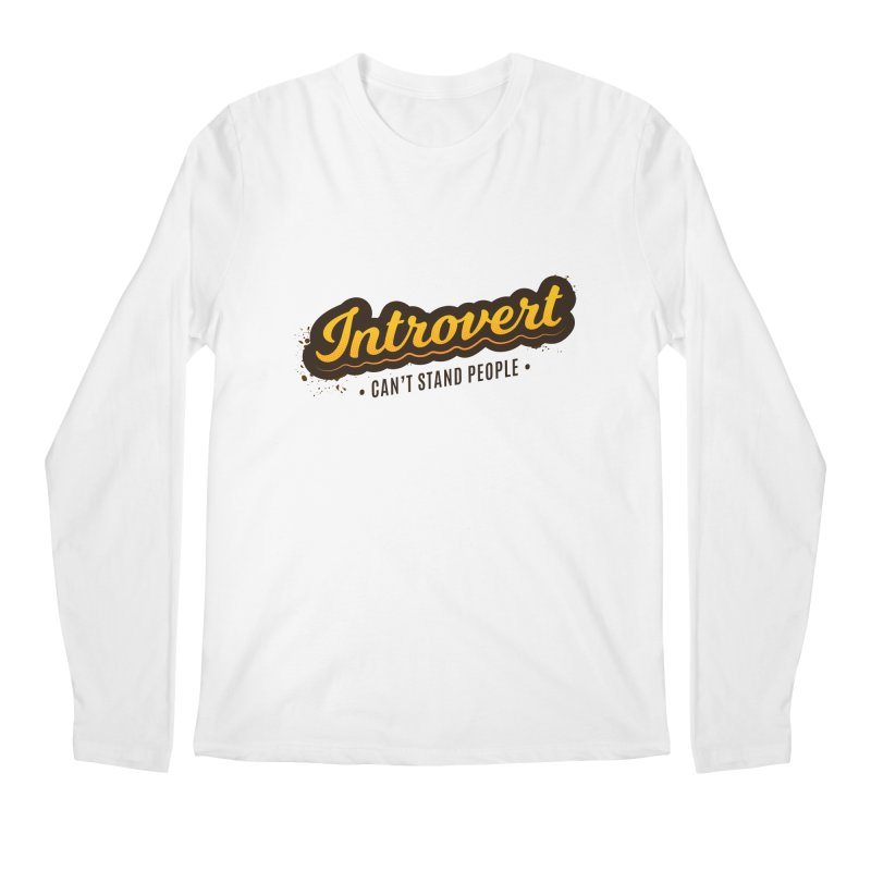 Introvert Men's Regular Longsleeve T-Shirt by zoljo's Artist Shop