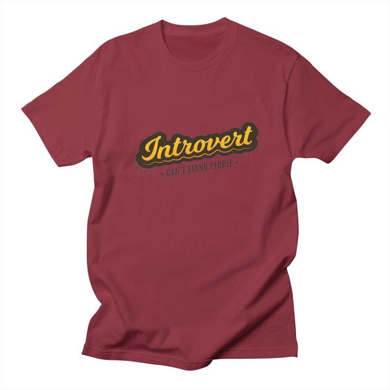 Introvert Men's Regular T-Shirt by zoljo's Artist Shop