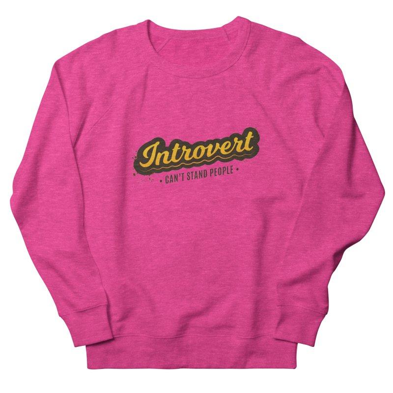Introvert Men's French Terry Sweatshirt by zoljo's Artist Shop