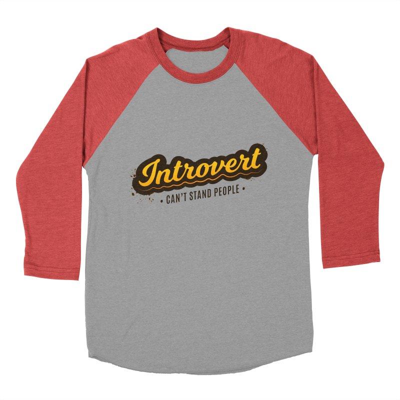 Introvert Women's Baseball Triblend Longsleeve T-Shirt by zoljo's Artist Shop