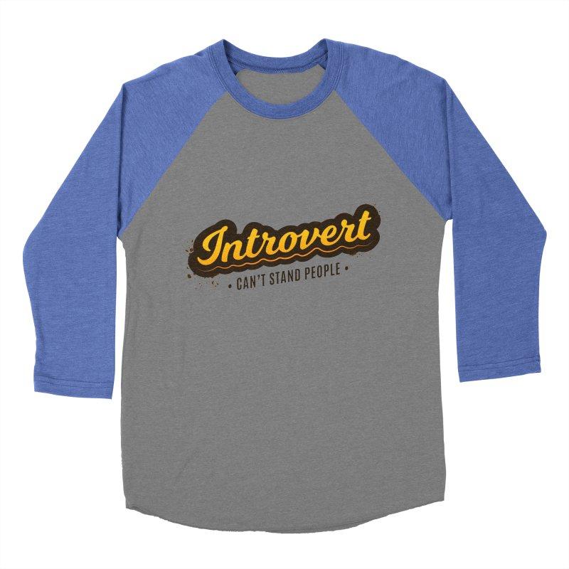 Introvert Men's Baseball Triblend Longsleeve T-Shirt by zoljo's Artist Shop