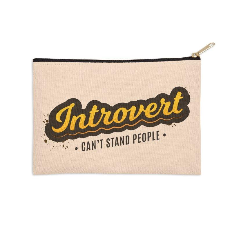 Introvert Accessories Zip Pouch by zoljo's Artist Shop