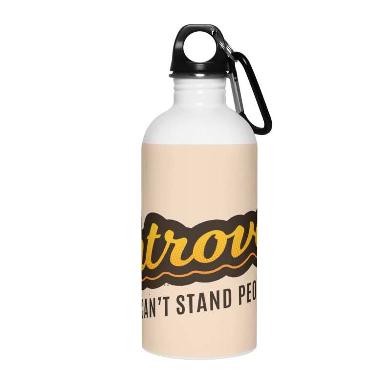 Introvert Accessories Water Bottle by zoljo's Artist Shop
