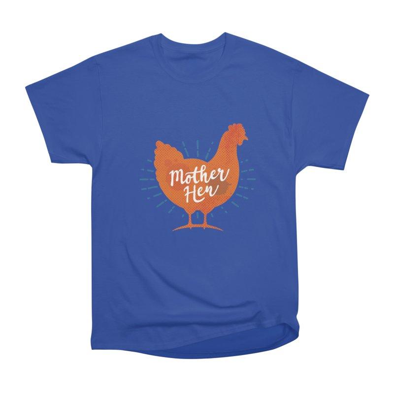 Mother Hen - Chicken Mama Men's Heavyweight T-Shirt by zoljo's Artist Shop