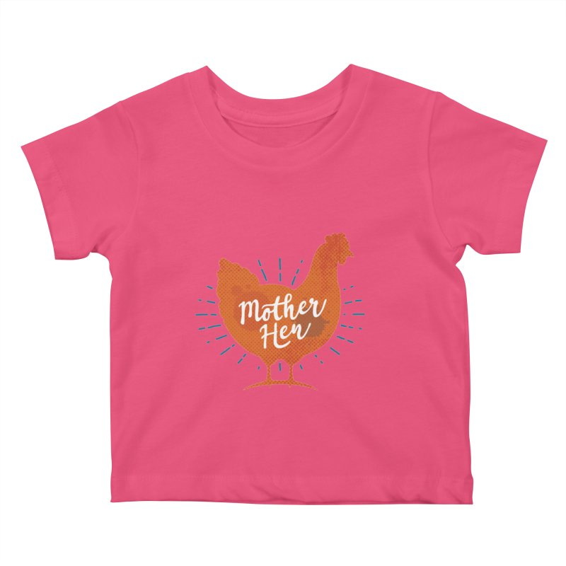 Mother Hen - Chicken Mama Kids Baby T-Shirt by zoljo's Artist Shop