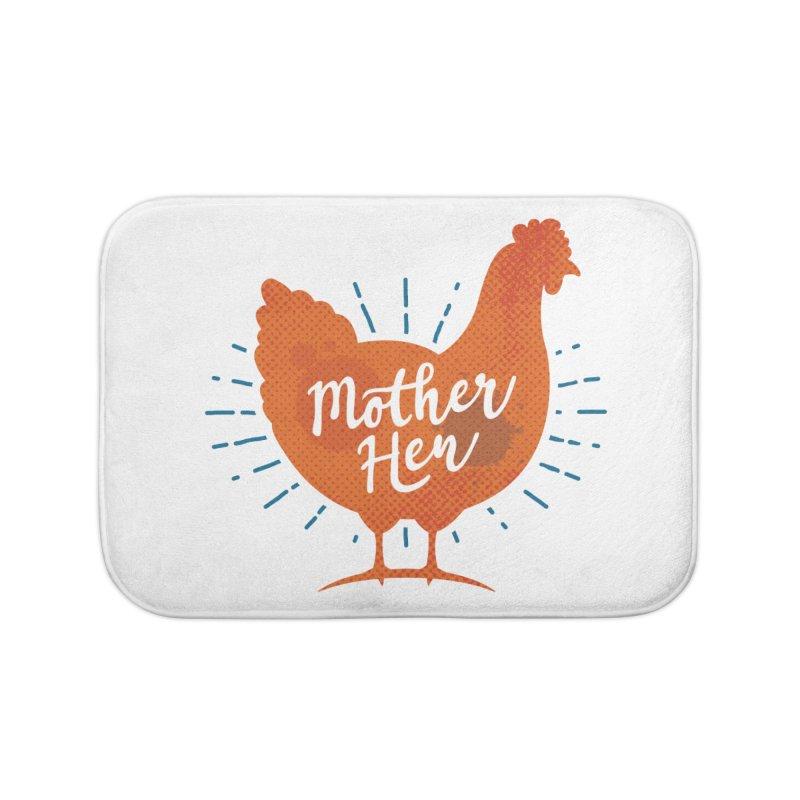 Mother Hen - Chicken Mama Home Bath Mat by zoljo's Artist Shop