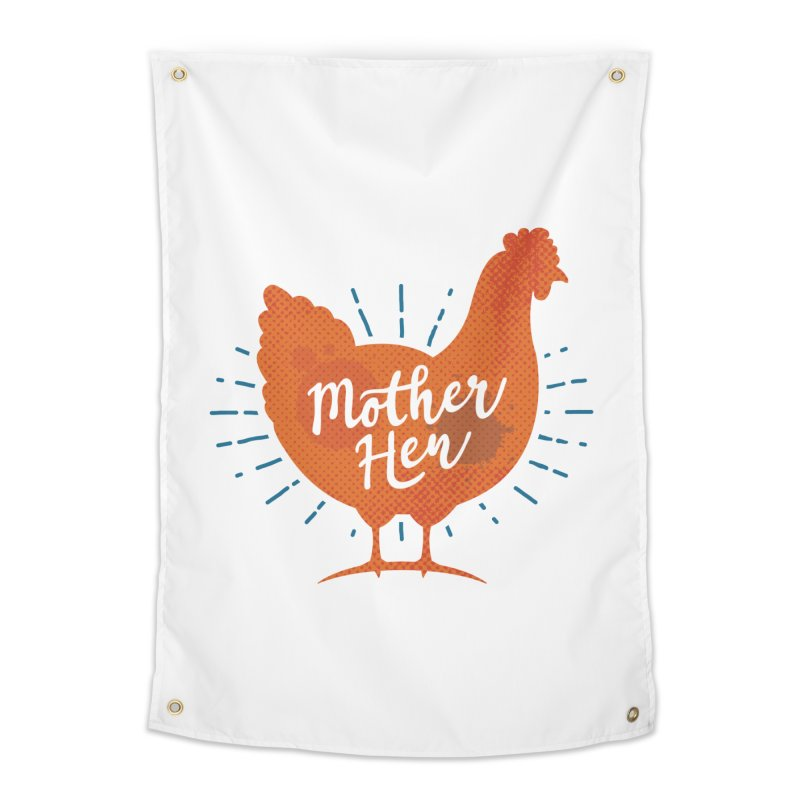 Mother Hen - Chicken Mama Home Tapestry by zoljo's Artist Shop