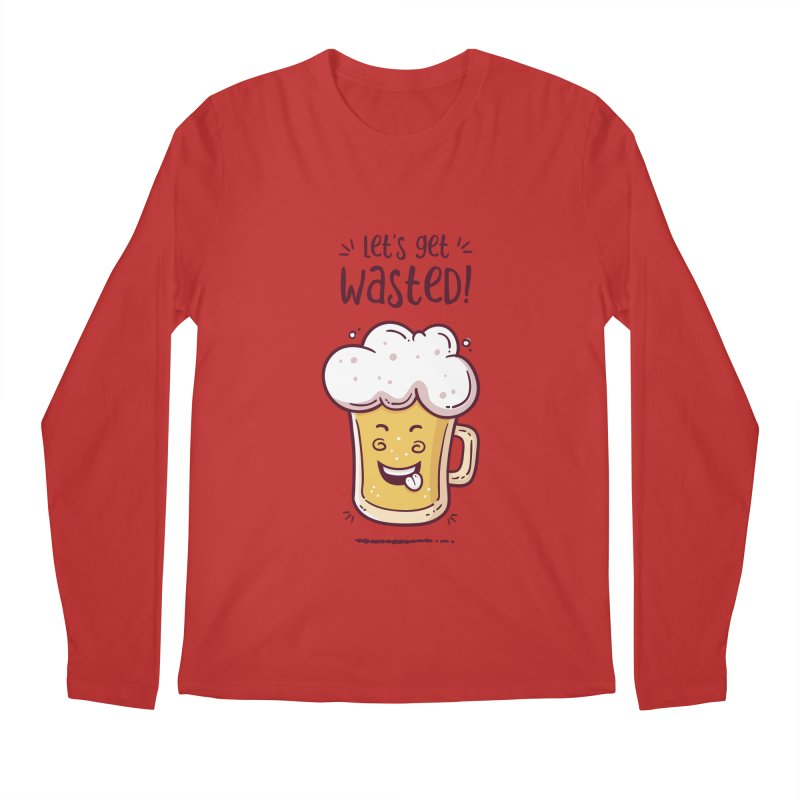 Let's get wasted - BEER Men's Regular Longsleeve T-Shirt by zoljo's Artist Shop