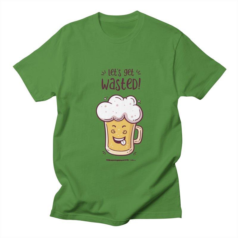 Let's get wasted - BEER Men's Regular T-Shirt by zoljo's Artist Shop