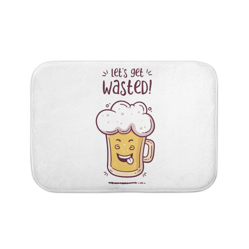 Let's get wasted - BEER Home Bath Mat by zoljo's Artist Shop