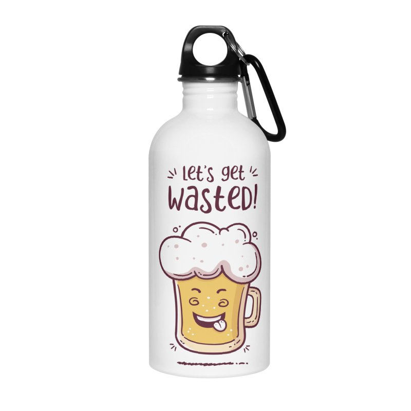 Let's get wasted - BEER Accessories Water Bottle by zoljo's Artist Shop