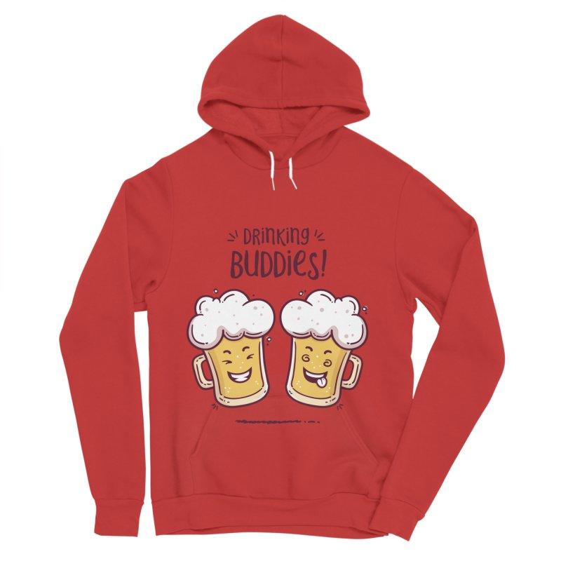 Drinking Buddies Men's Sponge Fleece Pullover Hoody by zoljo's Artist Shop