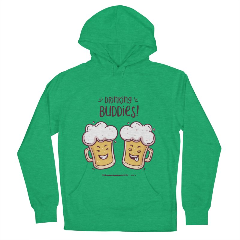 Drinking Buddies Women's French Terry Pullover Hoody by zoljo's Artist Shop