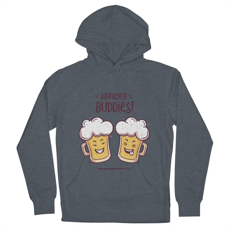 Drinking Buddies Men's French Terry Pullover Hoody by zoljo's Artist Shop