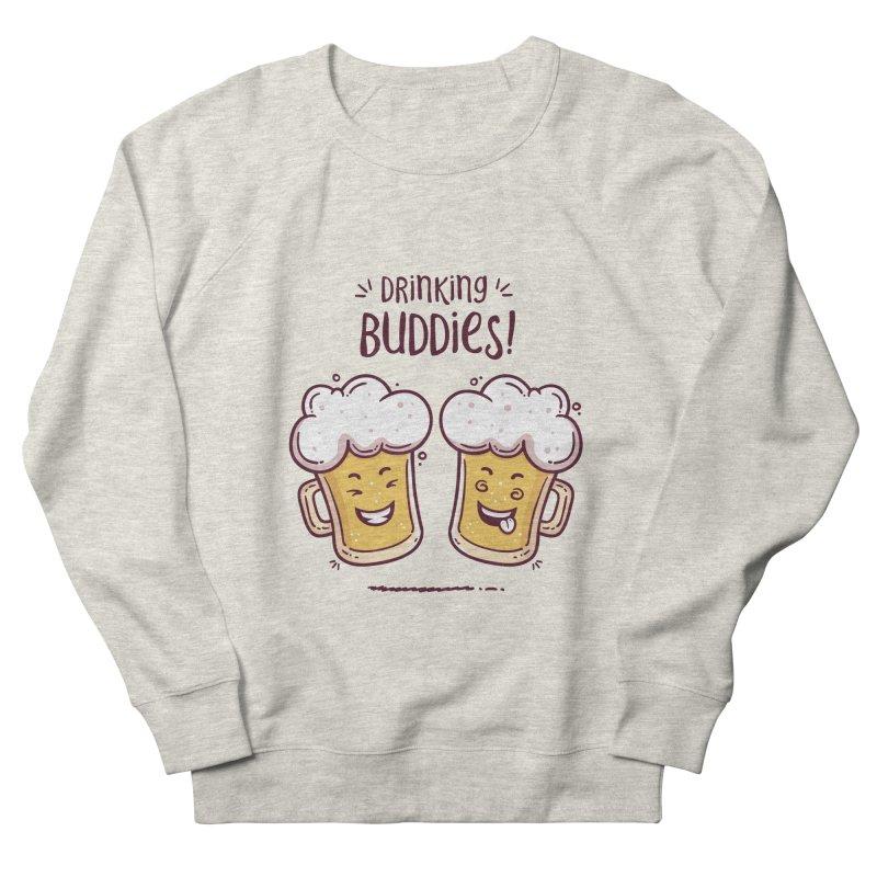 Drinking Buddies Men's French Terry Sweatshirt by zoljo's Artist Shop