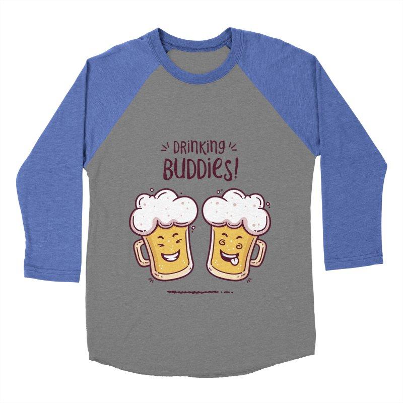 Drinking Buddies Men's Baseball Triblend Longsleeve T-Shirt by zoljo's Artist Shop