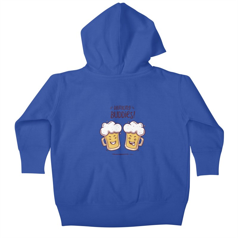 Drinking Buddies Kids Baby Zip-Up Hoody by zoljo's Artist Shop