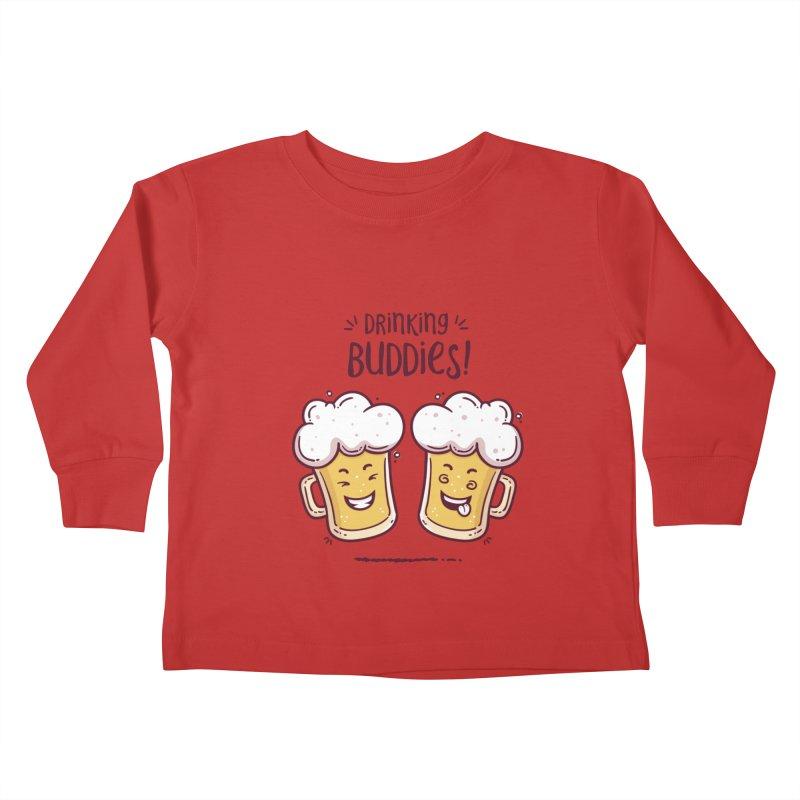 Drinking Buddies Kids Toddler Longsleeve T-Shirt by zoljo's Artist Shop
