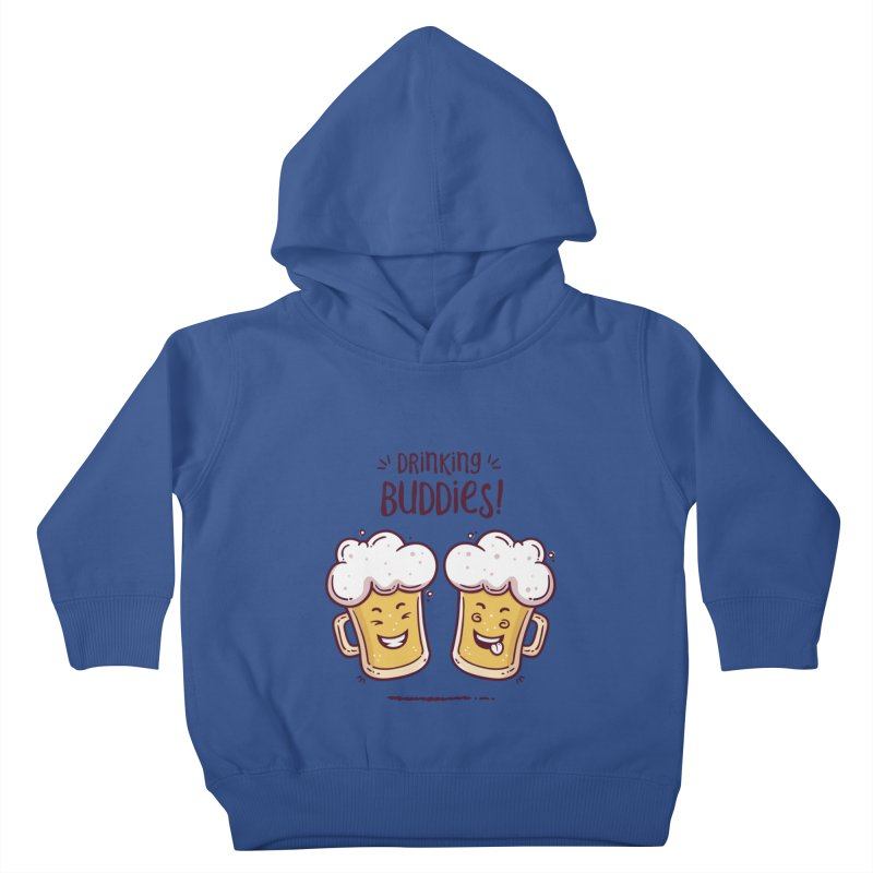 Drinking Buddies Kids Toddler Pullover Hoody by zoljo's Artist Shop