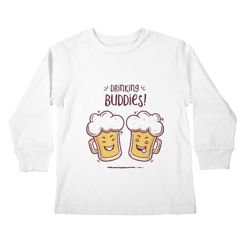 Drinking Buddies Kids Longsleeve T-Shirt by zoljo's Artist Shop