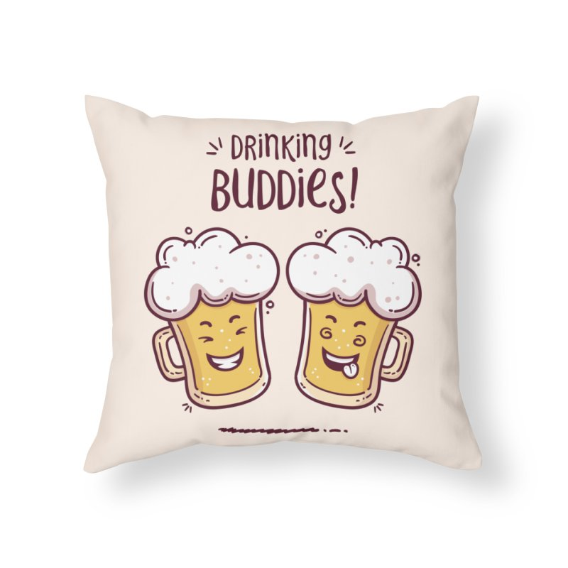 Drinking Buddies Home Throw Pillow by zoljo's Artist Shop
