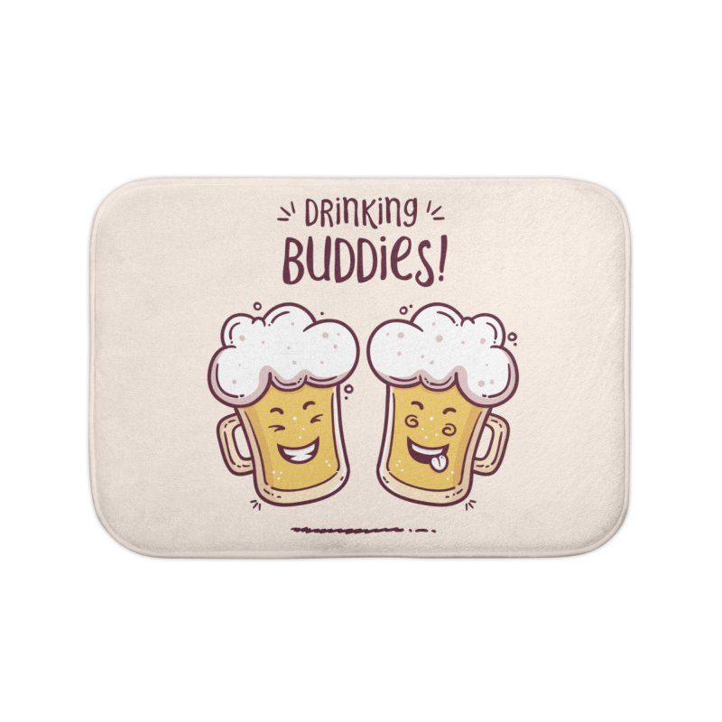 Drinking Buddies Home Bath Mat by zoljo's Artist Shop