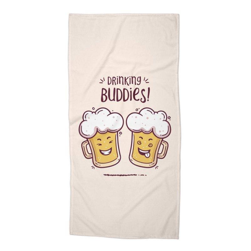 Drinking Buddies Accessories Beach Towel by zoljo's Artist Shop