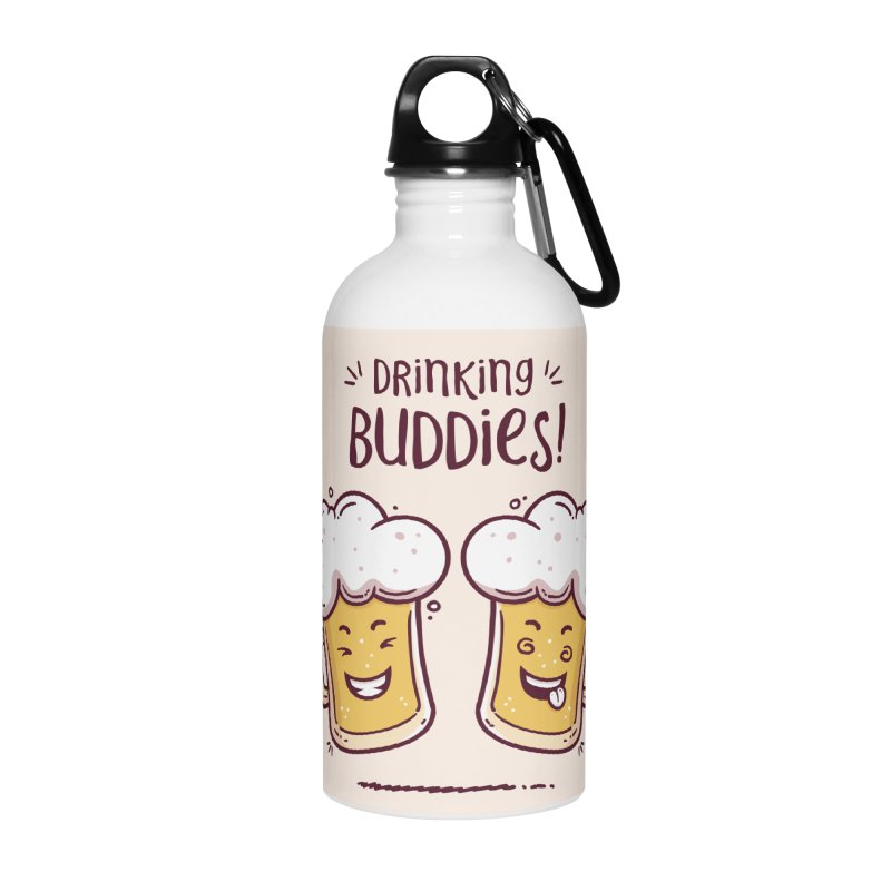 Drinking Buddies Accessories Water Bottle by zoljo's Artist Shop