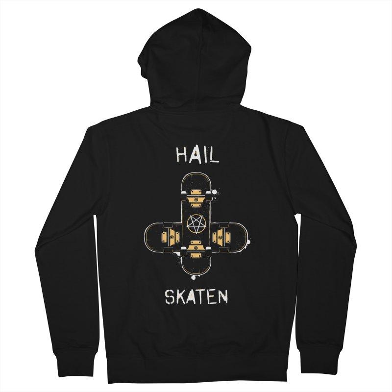 Hail Skaten Women's French Terry Zip-Up Hoody by zoljo's Artist Shop