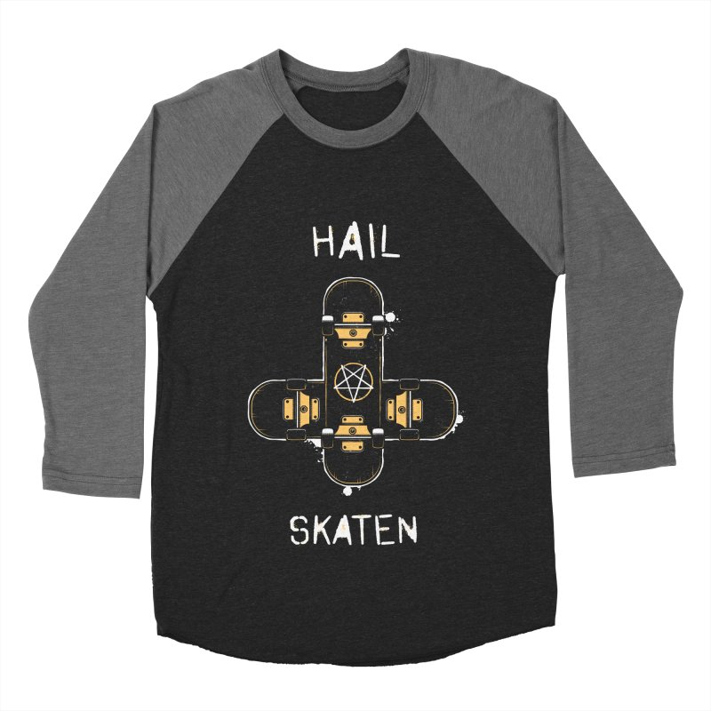 Hail Skaten Men's Baseball Triblend Longsleeve T-Shirt by zoljo's Artist Shop