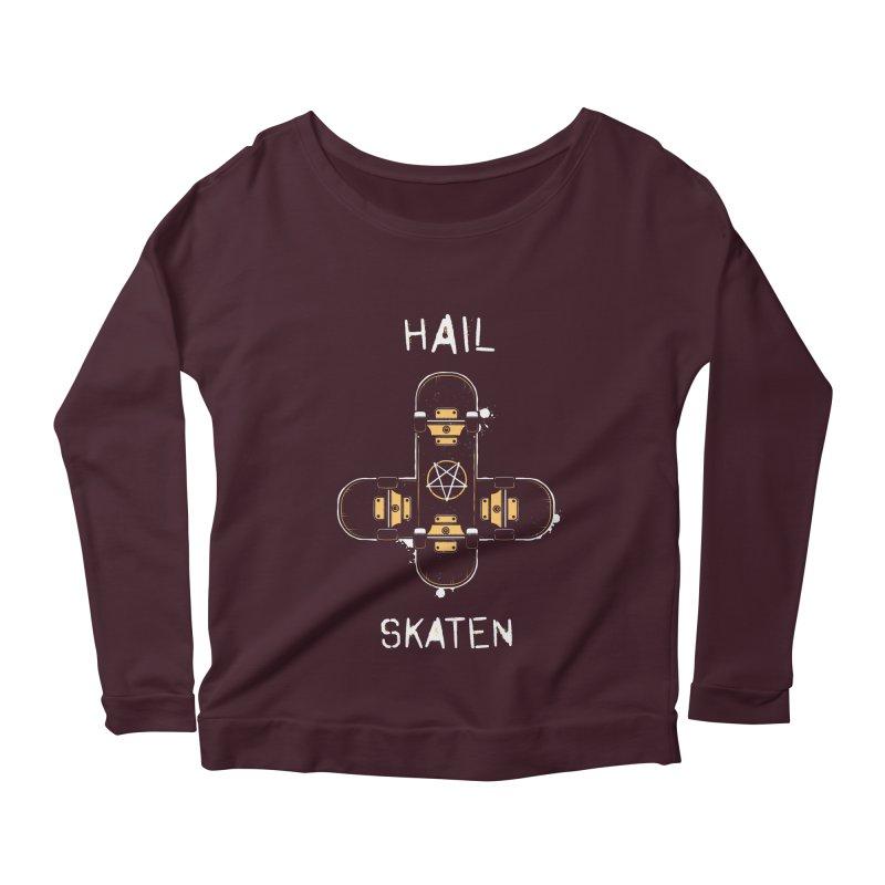 Hail Skaten Women's Scoop Neck Longsleeve T-Shirt by zoljo's Artist Shop