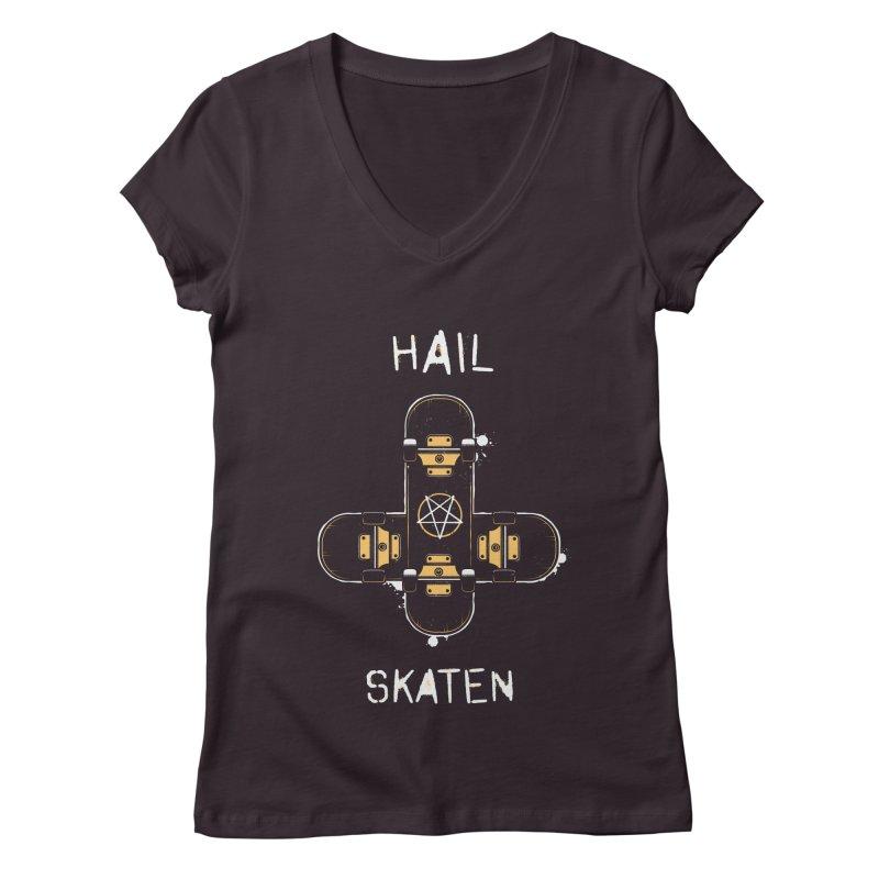 Hail Skaten Women's Regular V-Neck by zoljo's Artist Shop