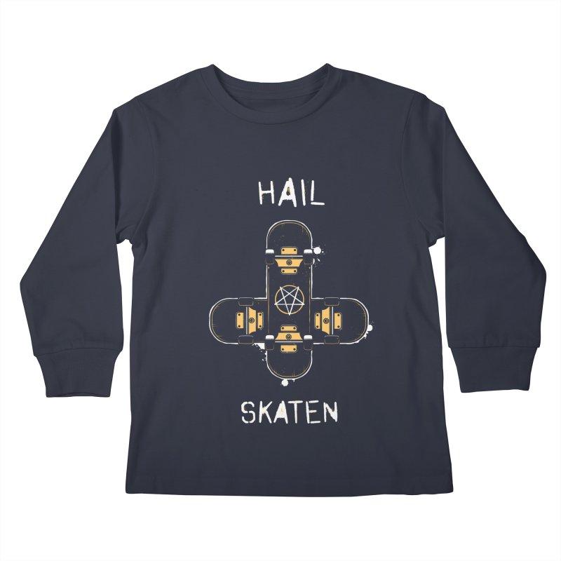 Hail Skaten Kids Longsleeve T-Shirt by zoljo's Artist Shop