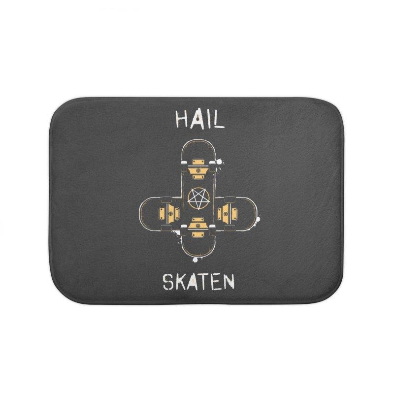 Hail Skaten Home Bath Mat by zoljo's Artist Shop